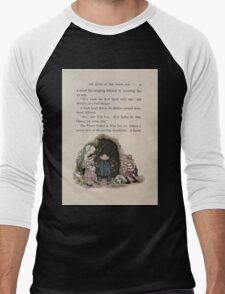 The Queen of Pirate Isle Bret Harte, Edmund Evans, Kate Greenaway 1886 0039 Cave Men's Baseball ¾ T-Shirt