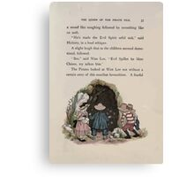 The Queen of Pirate Isle Bret Harte, Edmund Evans, Kate Greenaway 1886 0039 Cave Canvas Print