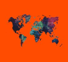 Map world art after Ice age Kids Clothes
