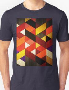 Vintage Retro Geometric Orange Brown Pattern T-Shirt