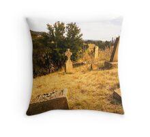 Cemetery at St John's Church in Richmond, Tasmania Throw Pillow
