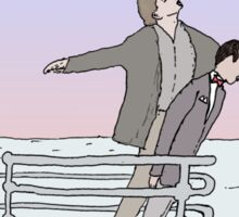 Titanic + Pee Wee's Big Adventure Sticker