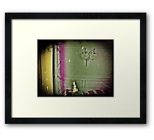 Desperately searching of you ... (Altered State of Consciousness # 3) Framed Print