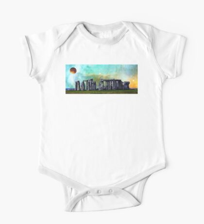 Building A Mystery 2 - Stonehenge Art By Sharon Cummings One Piece - Short Sleeve