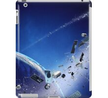 Space junk (pollution) orbiting earth iPad Case/Skin