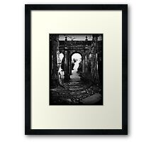 Archway at Trentham gardens, Staffordshire, UK. Summer 2000. Framed Print