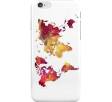 Map of  the world after nuclear war iPhone Case/Skin