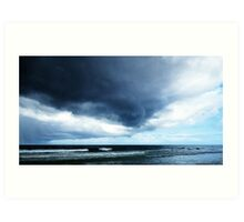 Stormy - Gray Clouds by Sharon Cummings - Beach Art Art Print