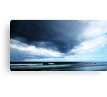 Stormy - Gray Clouds by Sharon Cummings - Beach Art Canvas Print