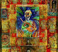 day of the dead - midnight serenade by dayofthedeadart