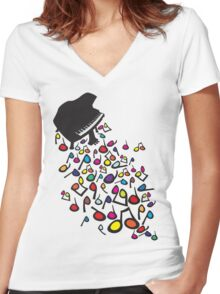 Flabby_Expression Women's Fitted V-Neck T-Shirt