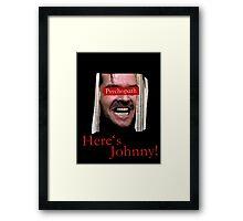 The Shining - Psychopath Framed Print