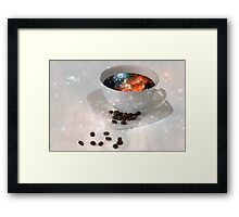 Nectar From Heaven - Coffee Art By Sharon Cummings Framed Print