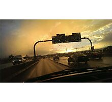 Highway Sunset Photographic Print