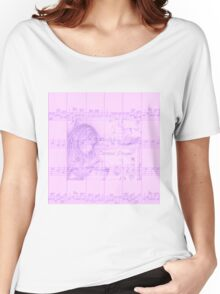 Vintage Carousel Dreams Soft Purple Sheet Music Women's Relaxed Fit T-Shirt