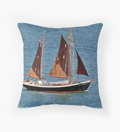 """ Sailing from Falmouth Harbour"" Throw Pillow"