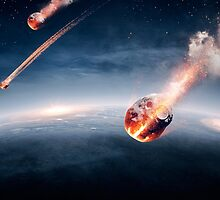 Meteorites on their way to earth by johanswanepoel