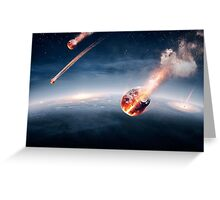 Meteorites on their way to earth Greeting Card