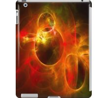 Red and Orange Circles 1 iPad Case/Skin