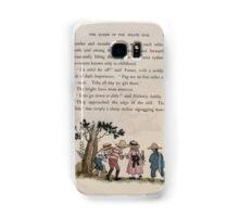 The Queen of Pirate Isle Bret Harte, Edmund Evans, Kate Greenaway 1886 0033 Slide Down Samsung Galaxy Case/Skin