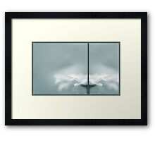 divided, reflected Framed Print