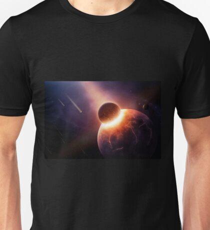 When planets collide Unisex T-Shirt