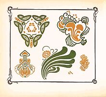 Maurice Verneuil Georges Auriol Alphonse Mucha Art Deco Nouveau Patterns Combinaisons Ornementalis 0008 by wetdryvac