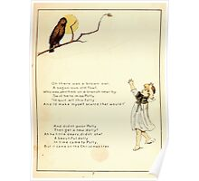 The Glad Year Round for Boys and Girls by Almira George Plympton and Kate Greenaway 1882 0013 Brown owl Poster