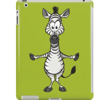 Silly zebra hugs iPad Case/Skin