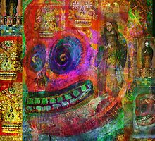 Day of dead - Cráneo Rojo  by dayofthedeadart