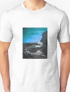 'Raging sea - Old man of the Rocks' Unisex T-Shirt
