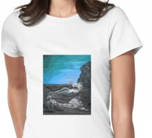 'Raging sea - Old man of the Rocks' Womens Fitted T-Shirt