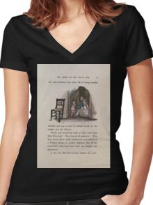 The Queen of Pirate Isle Bret Harte, Edmund Evans, Kate Greenaway 1886 0019 Hiding Women's Fitted V-Neck T-Shirt