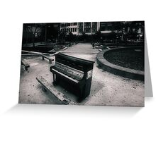 A Big City is Lonely Music Greeting Card