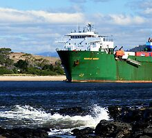 Searoad Mersey departs Devonport by Cody Williams