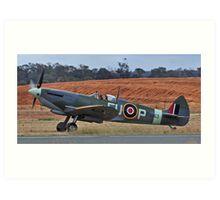 Spitfire Mark XV1 - vale wartime pilot Art Print