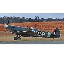 Spitfire Mark XV1 - vale wartime pilot Photographic Print
