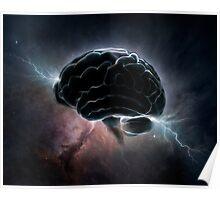Cosmic Intelligence - Brain in space Poster