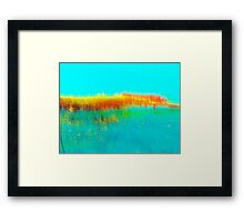 dock reflection..... sketches Framed Print