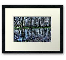 Flooded ...HDR Framed Print