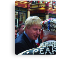 Boris and the Pearly King Canvas Print