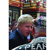 Boris and the Pearly King Photographic Print