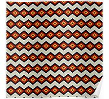 Brown Square Chain Pattern Poster
