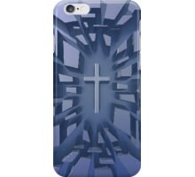 Abstract 3D Christian Cross iPhone Case/Skin