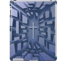 Abstract 3D Christian Cross iPad Case/Skin