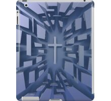 Abstract 3D Christian Cross iPad Case/Skin