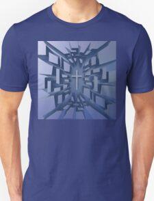 Abstract 3D Christian Cross Unisex T-Shirt