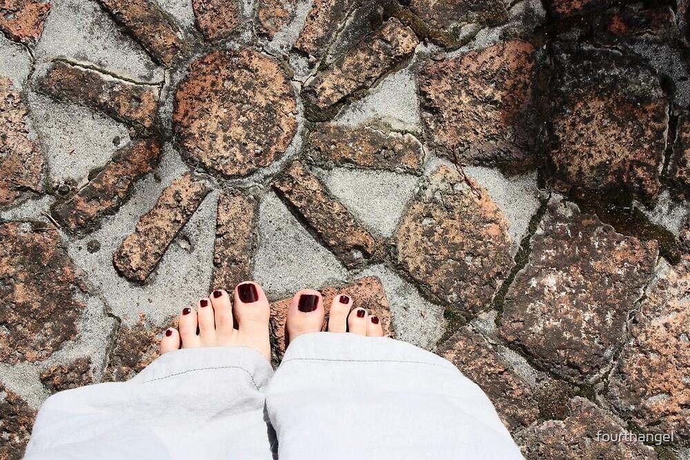 Feet on the bricks by fourthangel