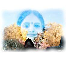 Little Indian girl in Belgium Photographic Print