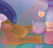 The cat is drunk by GraphicTabby